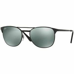 Ray-Ban Square Sunglasses W/Grey Mirrored Lens